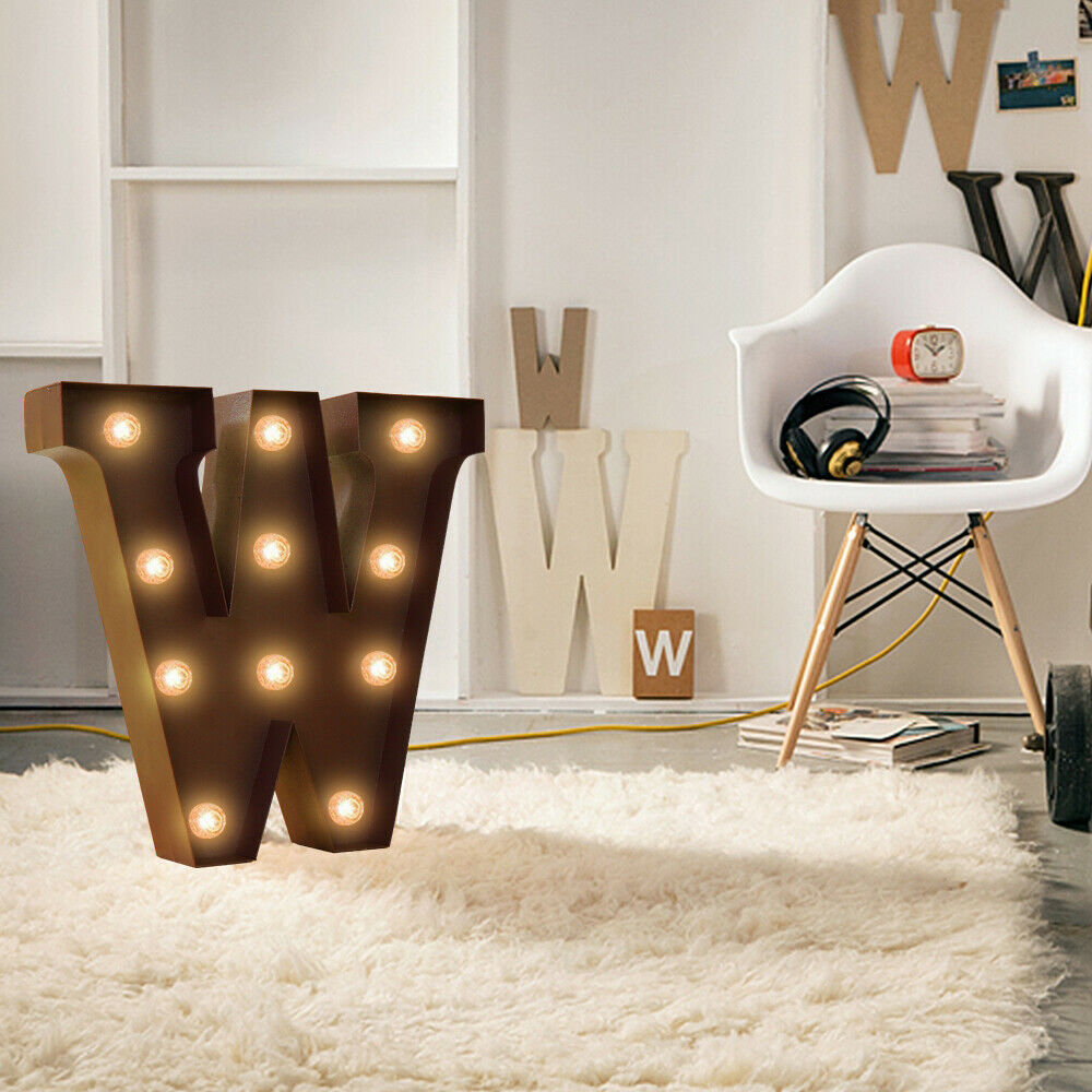 LED Metal Letter Lights Free Standing Hanging Marquee Event Party D?cor Letter K
