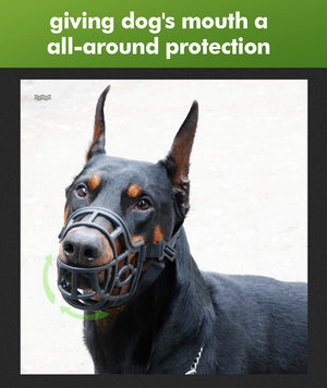 Soft Baskerville Dog Muzzle Pet Mask Bark Bite Training Treat Friendly Size XS
