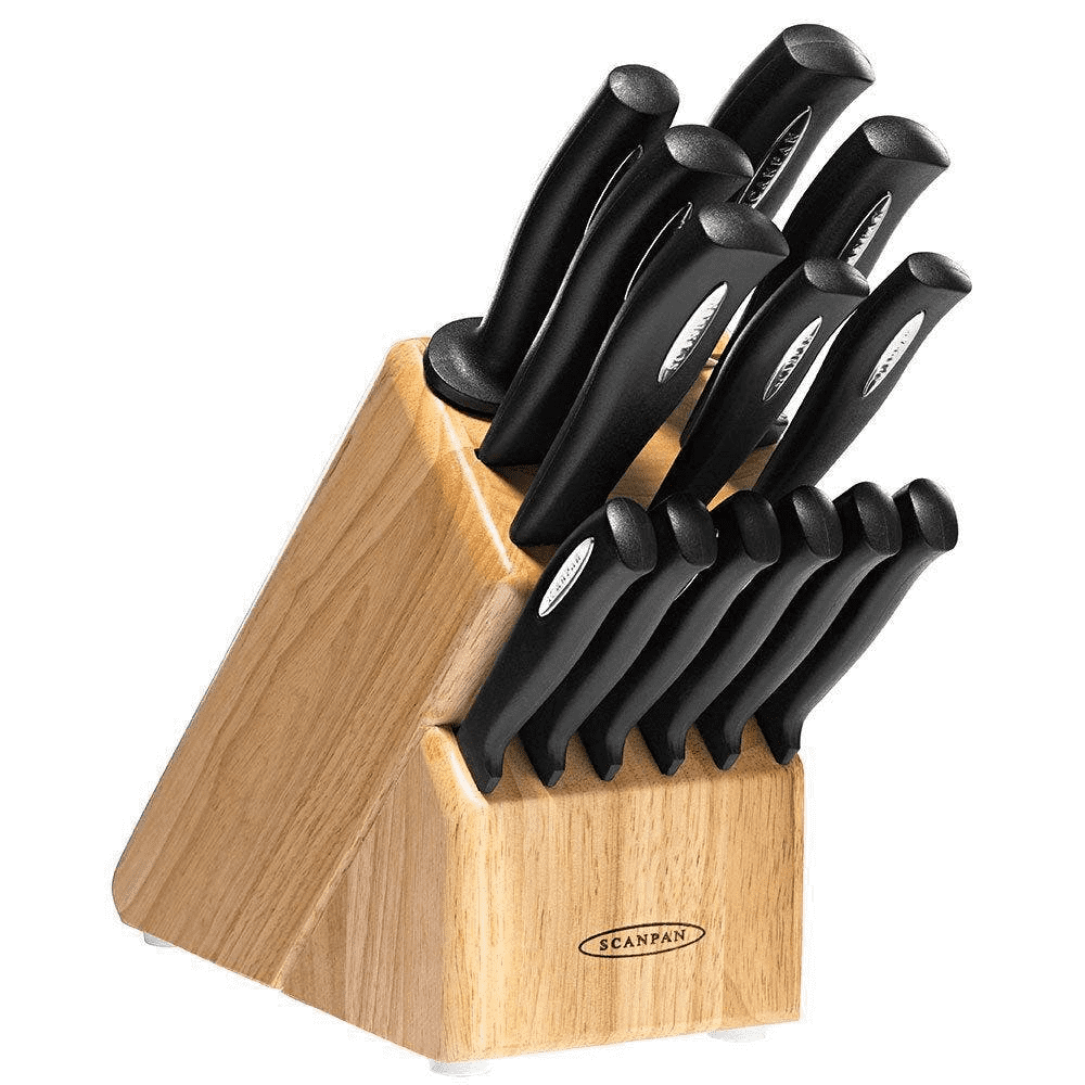 Scanpan 14-Piece Knife Set with Wooden Storage Block