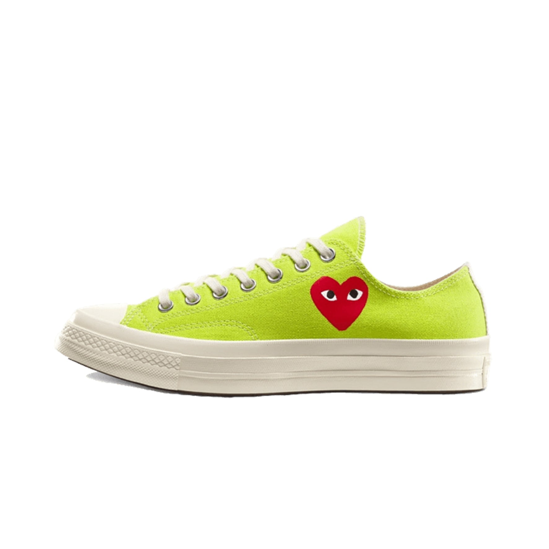 Converse Chuck Taylor All-Star 70s Ox Comme des Garcons PLAY Bright Green - 168302C - SneakersFromFrance