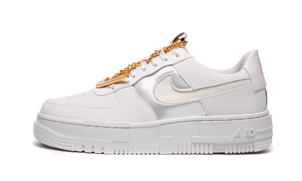 Air Force 1 Low Pixel Grey Gold Chain