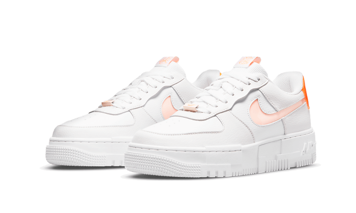 Air Force 1 Low Pixel White Orange - DM3036-100 - Sneakersfromfrance