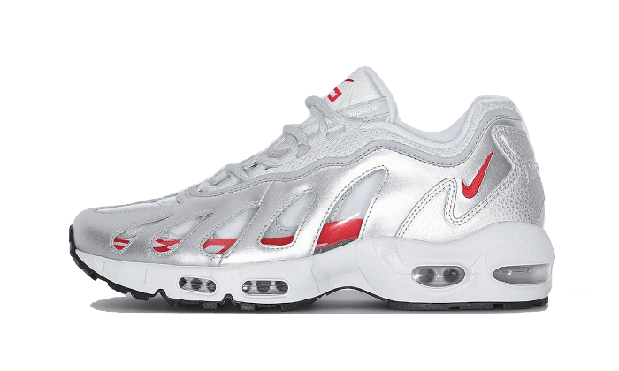 Air Max 96 Metallic Silver Supreme - CV7652-001 - Sneakersfromfrance