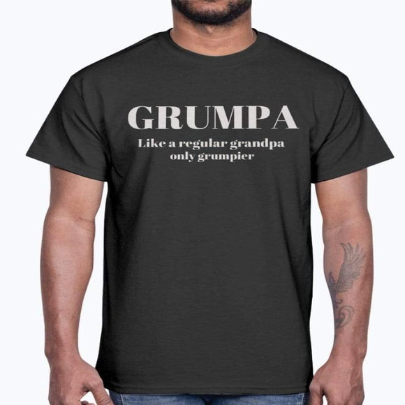 Grumpy Grumpa T-shirt/Personalized Grandpa Shirt for Papa, Gigi, Pop... Premium Grandpa -T-Shirt, Funny Grandpa Gift Christmas Gift Birthday