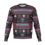 West Ham United Ugly Christmas Sweatshirt Athletic Sweatshirt - AOP