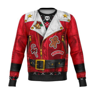 Motor Cycle Ugly Christmas Sweatshirt Athletic Sweatshirt - AOP