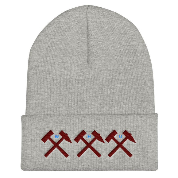 WHU Cuff Beanie with Embroidered Crossed Hammers WEST HAM