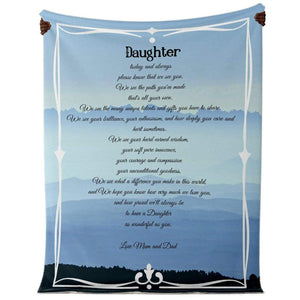 Blanket to Daughter from Mum and Dad # 3