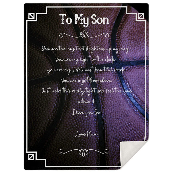 To My Son Blanket #3 Blankets
