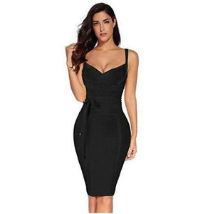 Surprenant V-Neck Cocktail Bodycon Bandage Dress