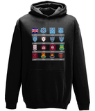 Kids WHU Badges Hoodie Clothing