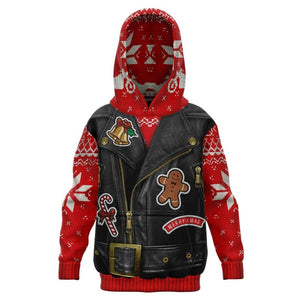Kids Sons of Santa Ugly Christmas Hoodie