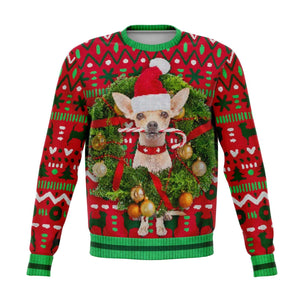 Chihuahua Dog Ugly Christmas Sweatshirt Fashion Sweatshirt - AOP