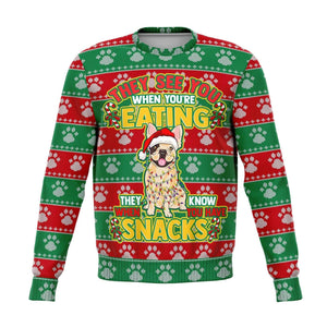 French Bulldog Ugly Christmas Sweatshirt Etsy Fashion Sweatshirt - AOP