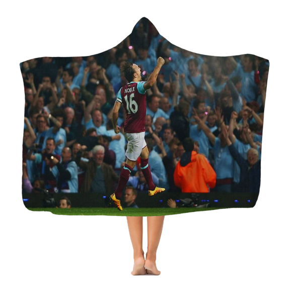 WHU Mark Noble Classic Fleece Hooded Blanket Hooded Blanket