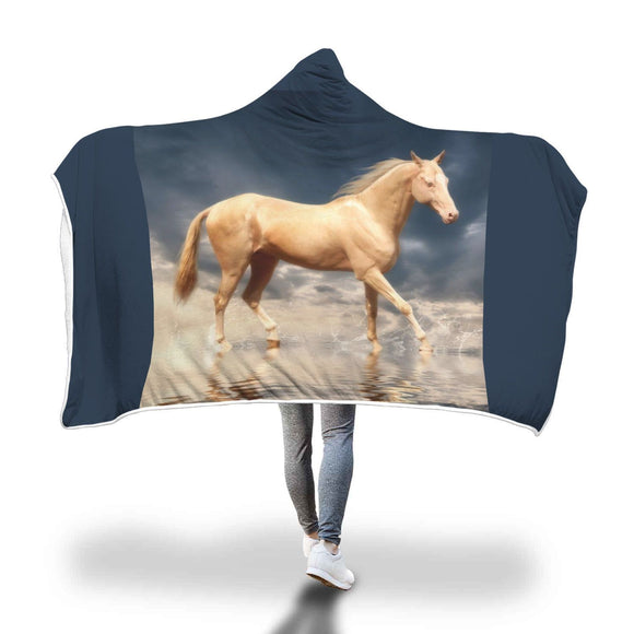 Rare Breed Hooded Blanket - Akhal-teke Hooded Blanket