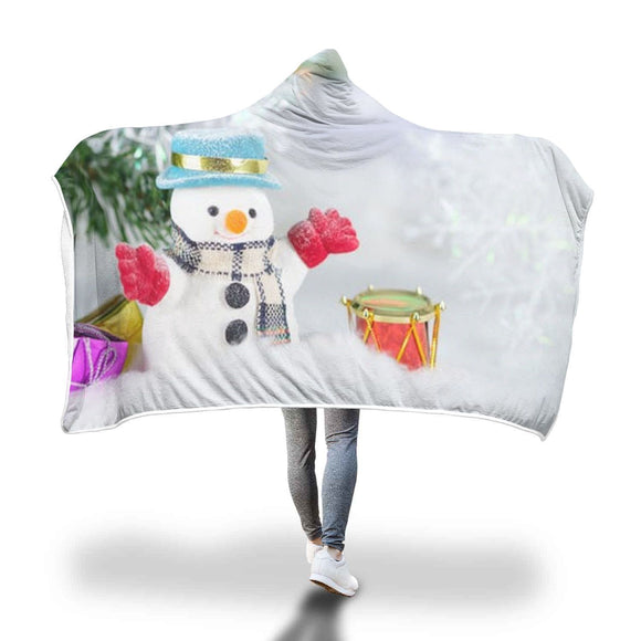 Cute Snowman Hooded Blanket Hooded Blanket