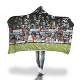 WHU Bubbles Hooded Blanket at the Boleyn Ground Hooded Blanket