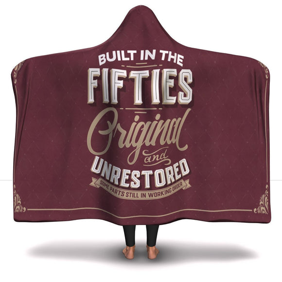 Built in the Fifties Hooded Blanket Hooded Blanket