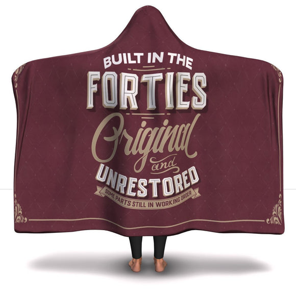 Built in the Forties Hooded Blanket Hooded Blanket