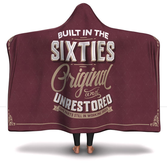 Built in the Sixties Hooded Blanket Hooded Blanket