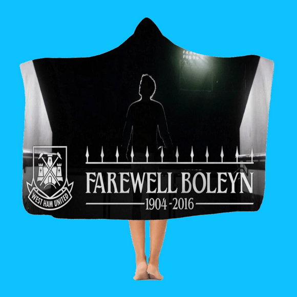 Farewell Boleyn - Classic Fleece or Premium Sherpa Adult Hooded Blanket Hooded Blanket