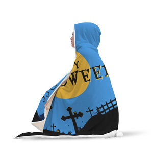 Flying Witch Halloween Hooded Blanket Hooded Blanket