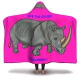 Save the Chubby Unicorns!! Unisex Hooded Blanket Hooded Blanket