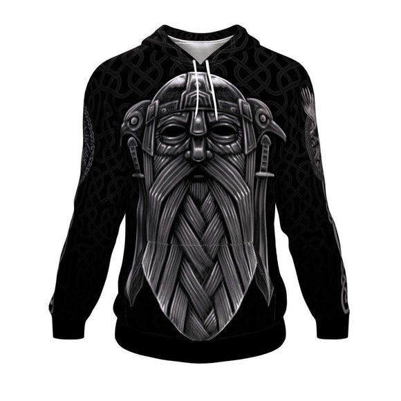 Odin Viking God Adult Unisex Men and Women's Hoodie Hoodie - AOP