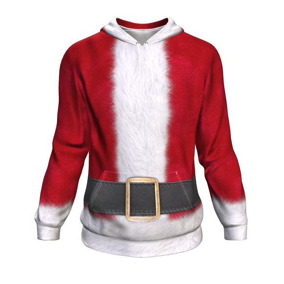 Father Christmas Suit Ugly Christmas Hoodie Hoodie