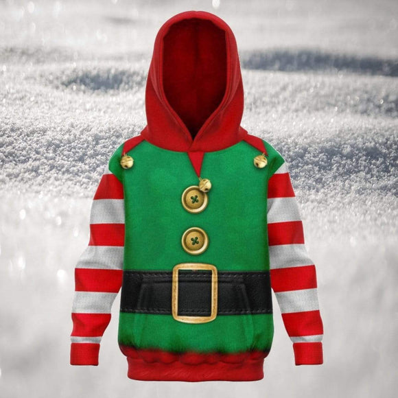 Kids Elf Ugly Christmas Hoodie Hoodies