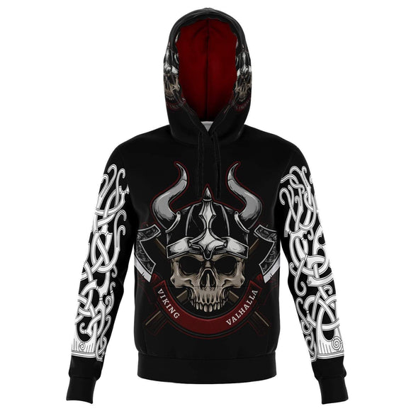 Valhalla Skull Adult Unisex Men and Women's Hoodie Hoodies
