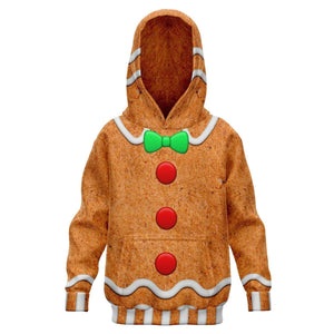 Kids Ginger Bread Biscuit Ugly Christmas Hoodie Hoodies