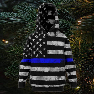 Kids Thin Blue Line Flag Hoodie Hoodies