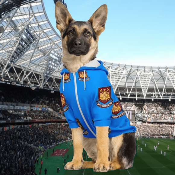 West Ham United Dog Hoodies Hoodies