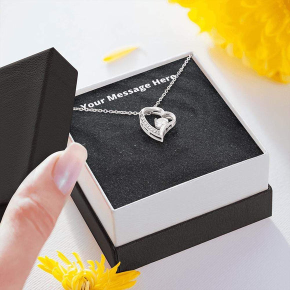 Forever Love Necklace with On Demand Message Card Jewelry