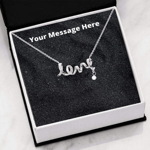 Scripted Love Necklace with On Demand Message Card Jewelry