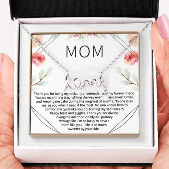 Mom - You Are My Rock - Love Necklace Jewelry