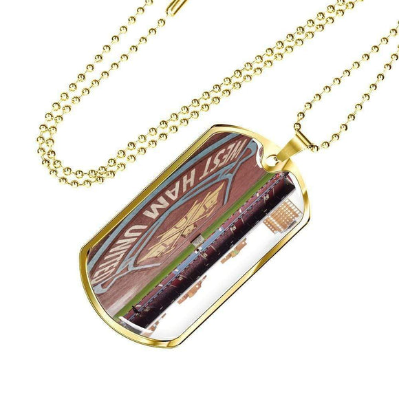 Last Game at the Boleyn Dog Tag Necklace * Jewelry
