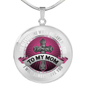 Necklace - God Blessed me when he gave me You - Round Transparent background Jewelry