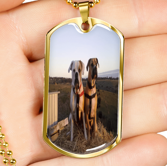 Customizable Doggy Best Friends Dog Tag Jewelry