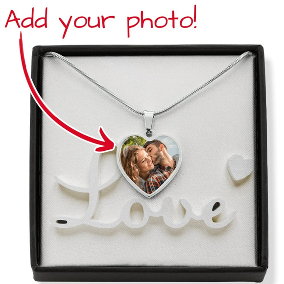Personalised Heart Photo Necklace Jewelry