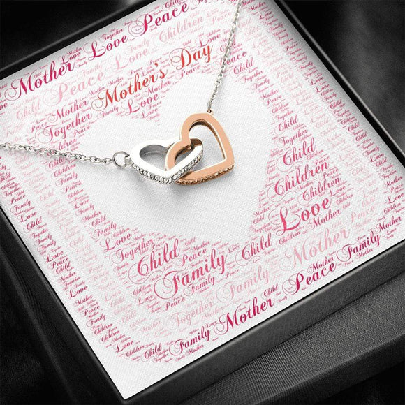 Entwined Heart Necklace for Mom Jewelry