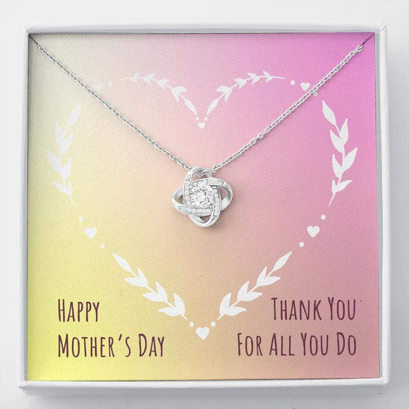 Mother's Day Love Knot necklace Jewelry