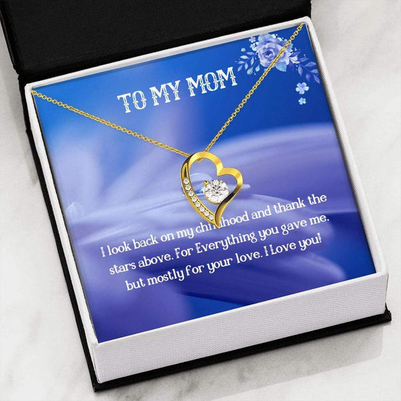 To My Mom Diamond Heart Necklace Jewelry