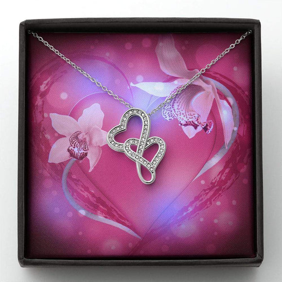 Valentines Day Double Hearts Necklace (2) Jewelry