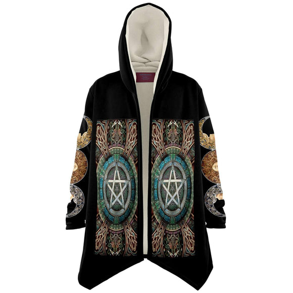 Wiccan Dream Cloak Microfleece Cloak - AOP
