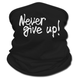 Never Give Up - Gaiter Scarf silver glitter Multifunctional Scarf