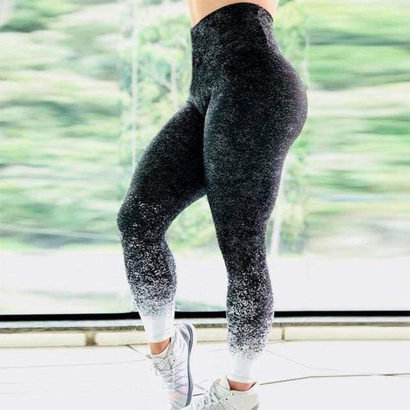 Gradient Print High Waisted Yoga Leggings YOGA LEGGINGS
