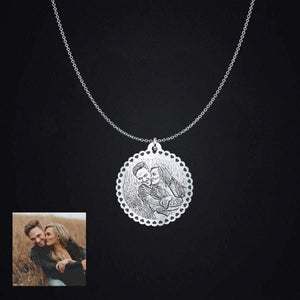 Happy couple Photo Pendant **** pendant